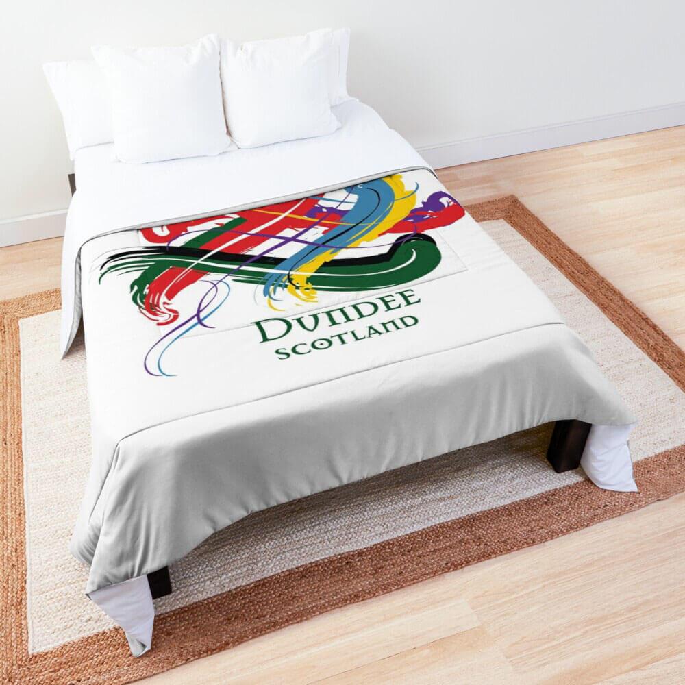 Scottish Bed Comforter showing Tangled Tartan Clan design
